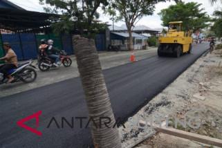 Kementerian PUPR aspal ulang jalan rusak akibat gempa