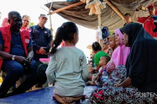 Sekjen IFRC beri semangat korban bencana di Palu