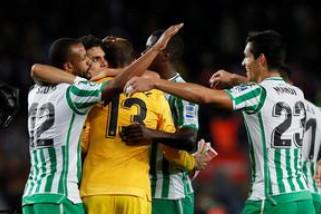 Betis permalukan Barcelona di Nou Camp