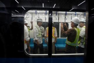 Presiden Jokowi tinjau proyek MRT Jakarta