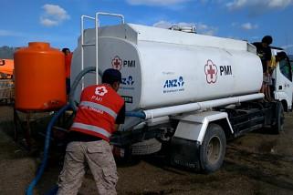 PMI salurkan tiga juta liter air bersih