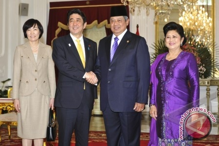 Presiden RI SBY Terima PM Jepang Shinzo Abe