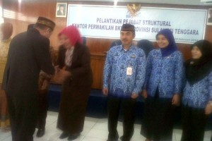 Tujuh Pejabat Struktural BKKBN  Sultra Di Lantik