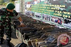 Pangdam IX/Udayana Musnahkan 112 Pucuk Senjata Api