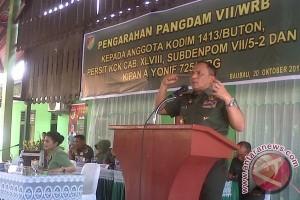 Pangdam Wirabuana Minta Bhabinsa Kuasai Wilayah Tugas