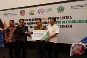 Bank Sultra Donasi 2.000 Pekerja Perlindungan Ketenagakerjaan