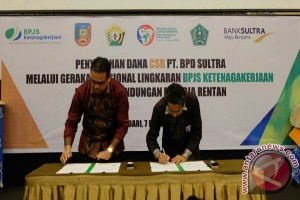 BPJS Ketenagakerjaan-Bank Sultra Kerjasama Sukseskan GN Lingkaran