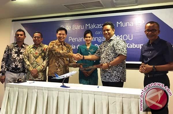 Garuda Buka Rute Baru Makassar - Raha