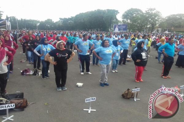 5.000 Peserta Ikuti Senam Germas Harganas Lampung
