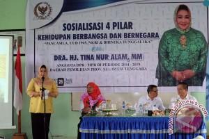 Tina Sosialisasikan Pilar Kebangsaan Di Konawe Selatan