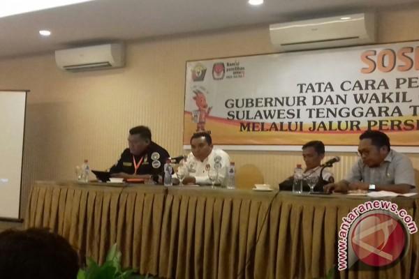 KPU Sultra Sosialisasikan Tata Cara Pencalonan Perseorangan