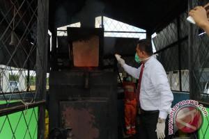 BNN Sultra musnahkan 820 gram ganja kering