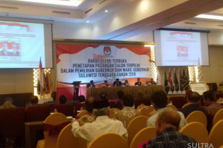 KPU tetapkan Ali-Lukman sebagai gubernur/wagub Sultra 2018-2023