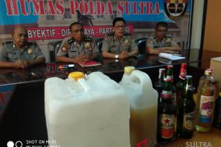 Polisi amankan satu ton minuman keras ilegal