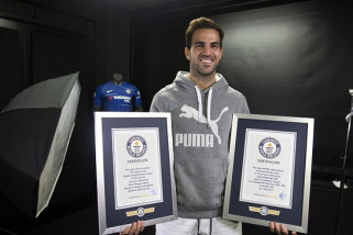 Nama Fabregas kembali masuk dalam daftar Guiness World Record