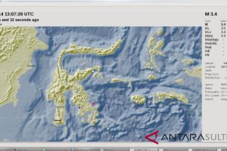 Gempa 3,4 SR Guncang Kendari