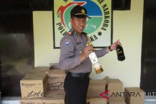 Polisi sita 516 botol minuman keras