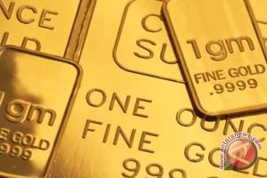 Emas naik karena dolar AS melemah