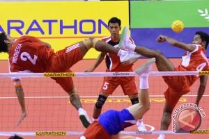 Uji pertandingan takraw Asian Games di Palembang