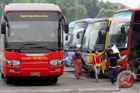 Penumpang bus AKDP-AKAP di Palembang sepi