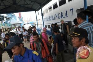 Arus mudik di pelabuhan Pangkalbalam-Belitung meningkat