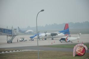 Kabut asap di Palembang kembali ganggu penerbangan