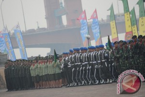 Upacara HUT TNI di Sumsel