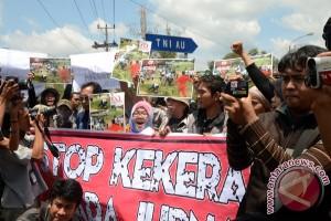 Aksi solidaritas jurnalis Sumsel