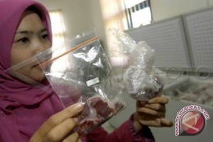 Polres Lampung sita daging babi ilegal dari Sumsel