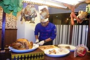 Ayam kalkun menu utama tahun baru