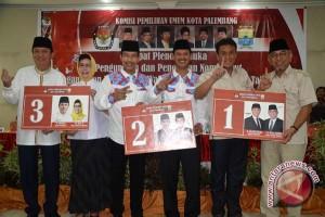 Tiga calon wali kota Palembang bersaing ketat