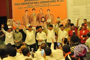 Empat Calon Gubernur Sumsel berbagi nomor urut