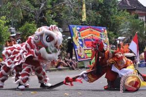 Festival barongsai di Palembang