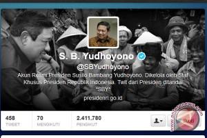 Pengikut twitter presiden SBY dekati lima juta