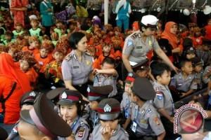Ditlantas Polda Sumsel galakkan polisi sahabat anak