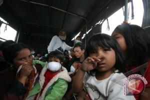 Pengungsi erupsi Sinabung capai 16.721 orang