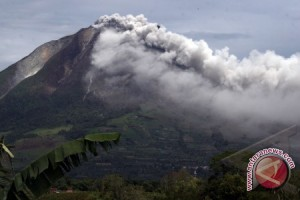 Pegunungan Aceh ditutupi abu vulkanik Sinabung