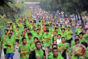 Sebanyak 16.000 peserta ikuti mandiri jakarta marathon