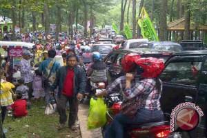 Kawasan rekreasi di Palembang selama libur padat pengunjung