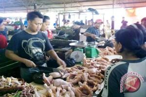 Pasar tradisional Palembang jelang lebaran semakin ramai