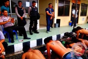 46 preman di Palembang terjaring razia