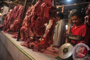 Harga daging sapi bergerak turun