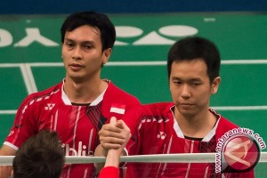 Hendra/Ahsan dimainkan untuk hadapi China di Piala Thomas