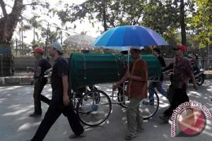 Jenazah Praka Wahyudi dimakamkan di Magetan