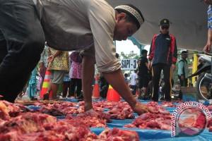 Jumlah hewan kurban dipotong di Palembang turun
