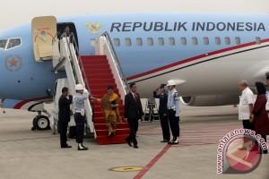 Presiden Joko Widodo tiba di Palembang