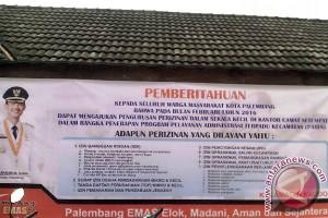 Pemkot Palembang terapkan pelayanan administrasi terpadu kecamatan