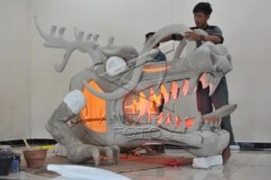 Lampion naga raksasa meriahkan GMT di Palembang