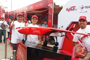 Drone elang barat tiba di Palembang