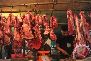Jelang ramadhan, harga daging dan bawang meningkat